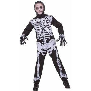 NEW Skeleton Halloween Costume Boys Large 10-12